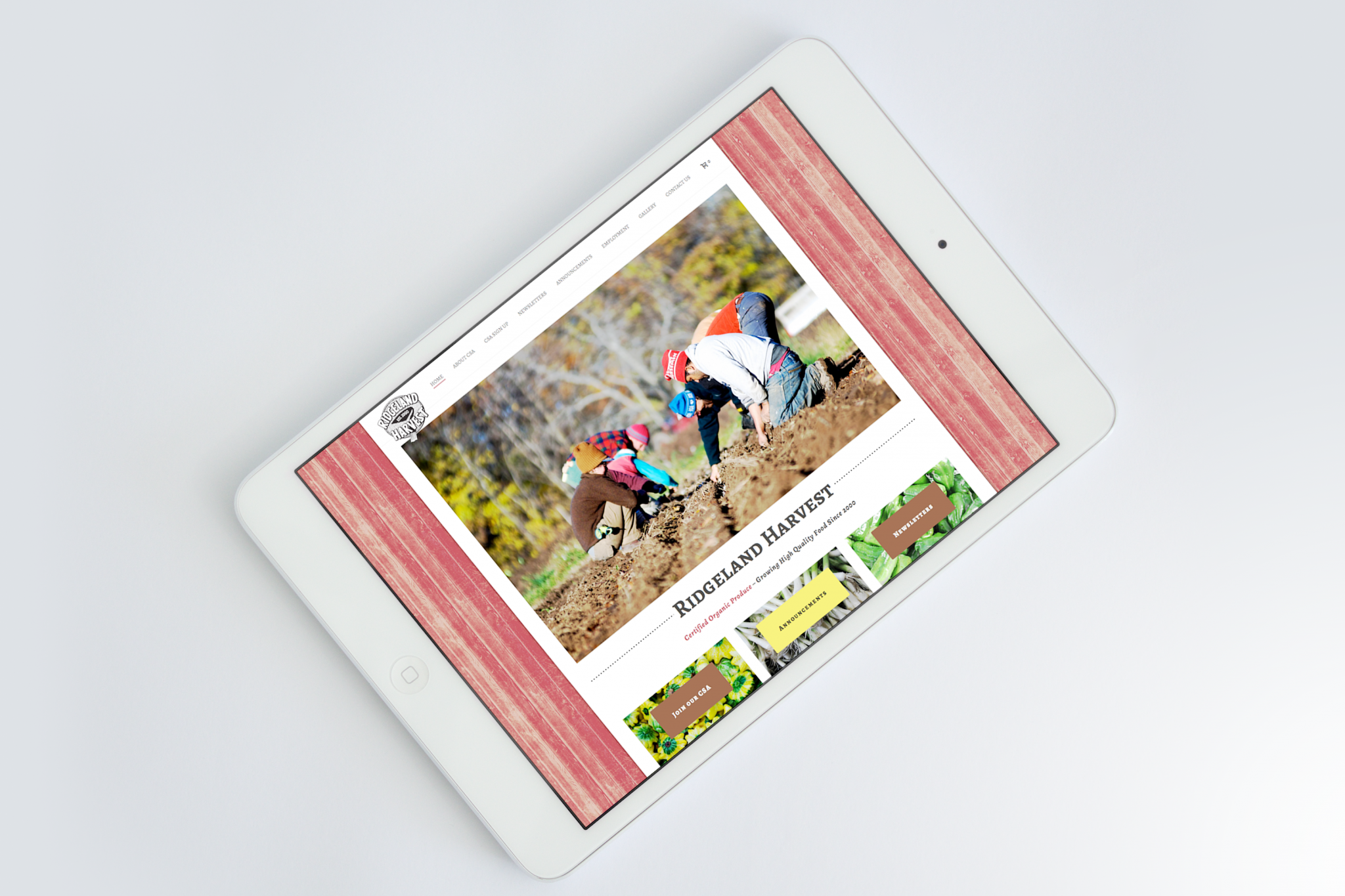 Inspwired Mobile Friendly Responsive Website Design | Ridgeland Harvest