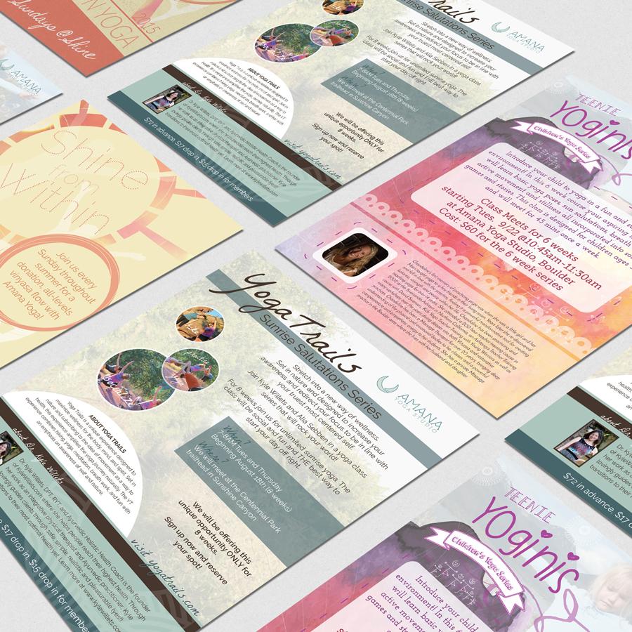 Graphic Design Portfolio: Amana Yoga Studio