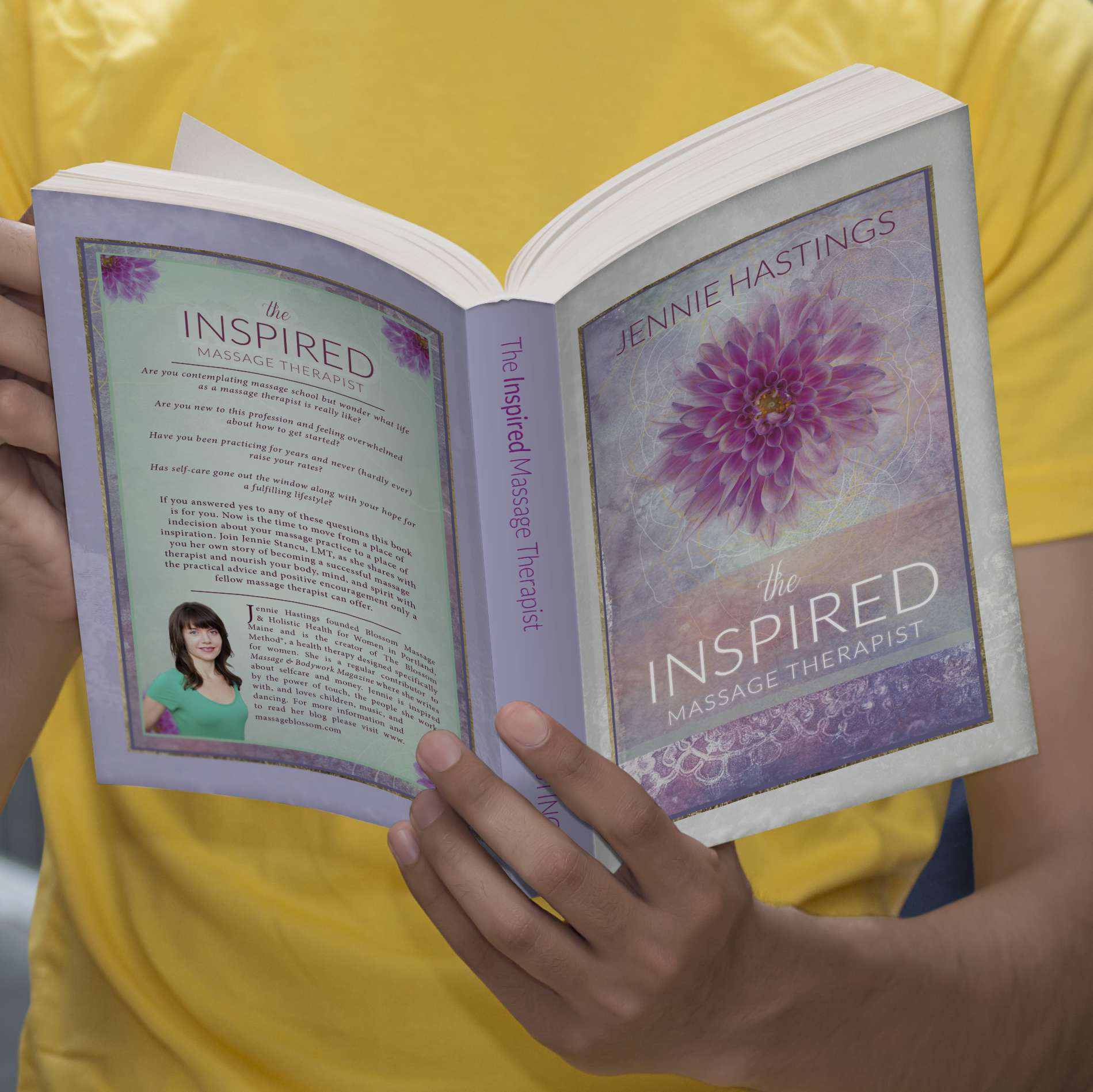 Inspwired Book Cover Design | The Inspired Massage Therapist III
