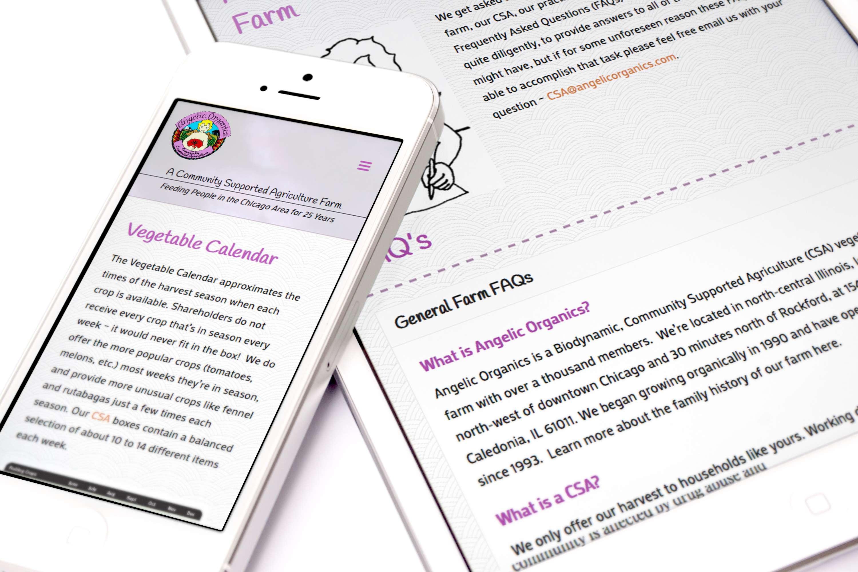 Inspwired Responsive Website Design | Angelic Organics