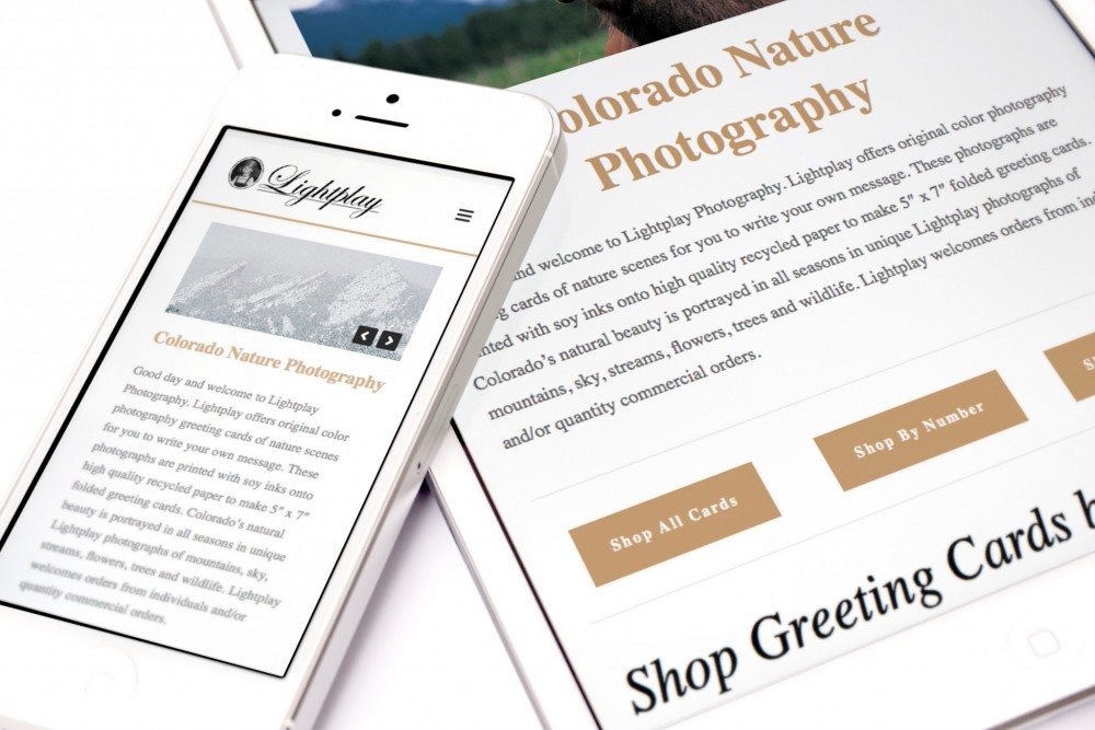 Inspwired Responsive Website Design | Lightplay Photography