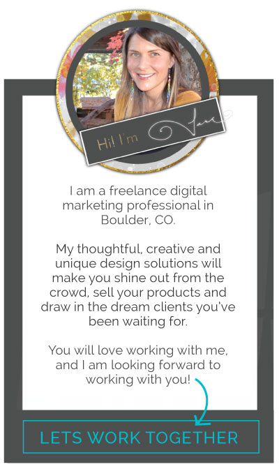 Graphic Designer | Website Designer | Brand Curator | Marketing Strategist | Boulder, CO | Inspwire Design