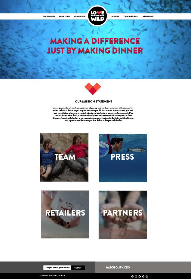 love the wild website design