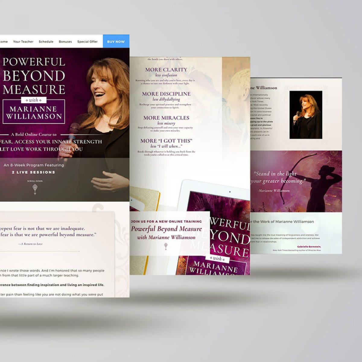 marianne-williamsonpowerful-beyond-measure-website-design